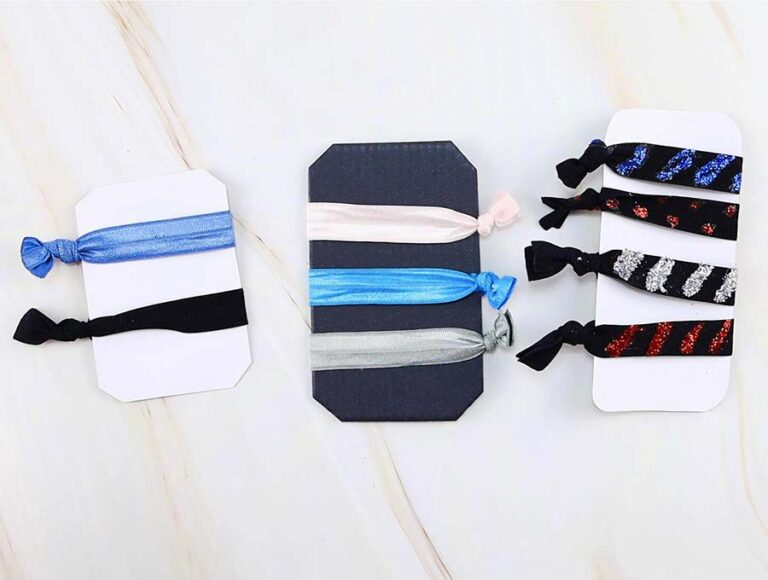 DIY Fold Over Elastic Hair Ties or Headbands in 2 minutes