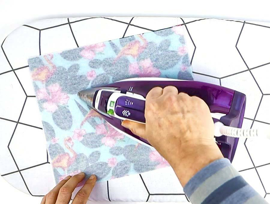 making fabric basket - iron interfacing to fabric