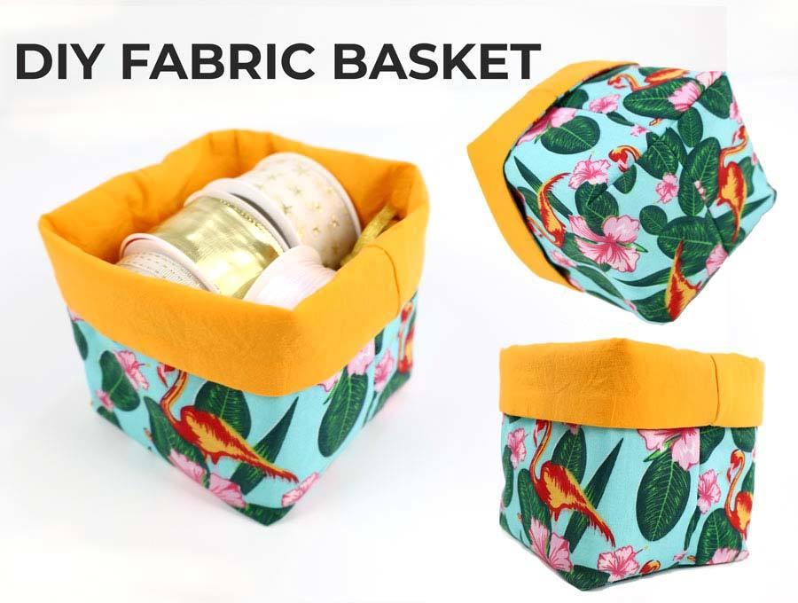 diy fabric basket pattern and tutorial