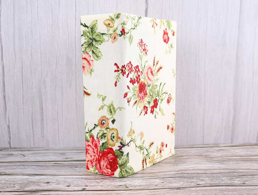 diy fabric book cover standing