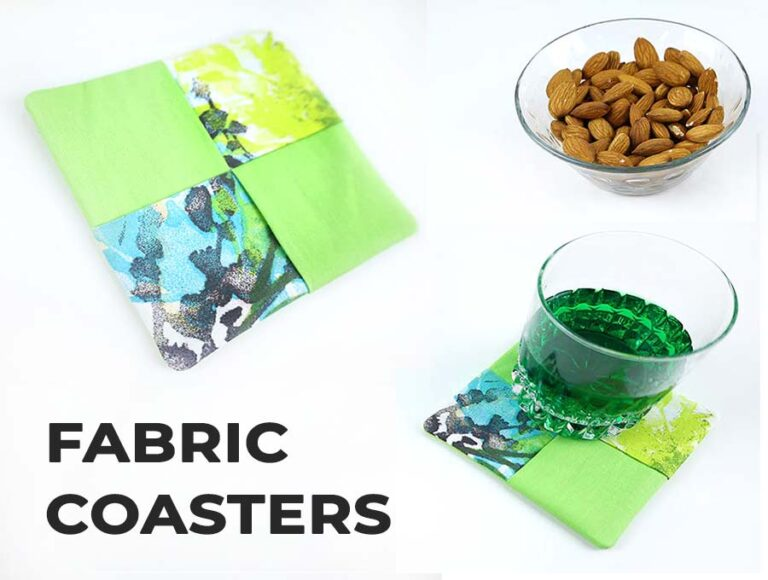 DIY Fabric Coasters with FREE sewing pattern and VIDEO
