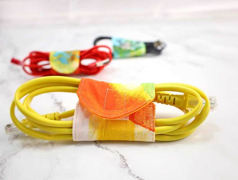 DIY Fabric Cord Keeper – Cord Wrap Template in 3 sizes