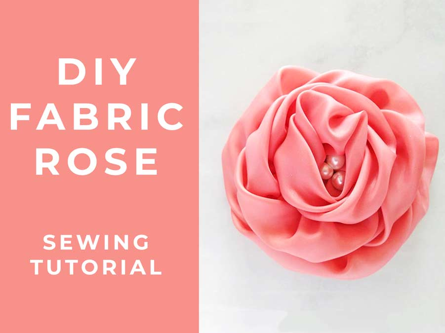 DIY fabric rose - how to make a fabric flower