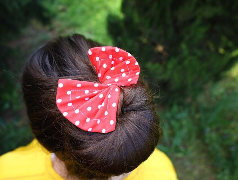 DIY Fabric Hair Bun Maker and Holder – Tutorial and Free Pattern