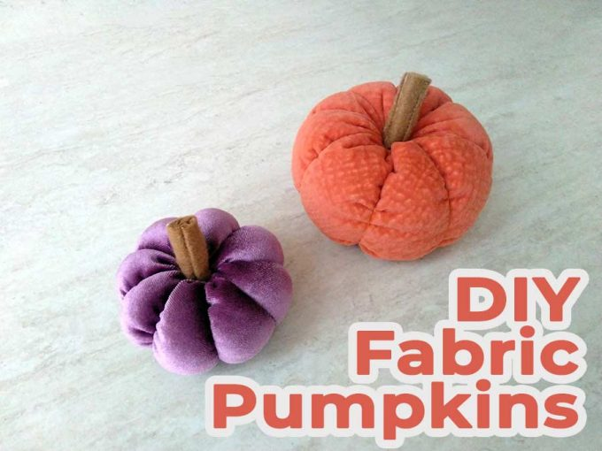 how to make fabric pumpkins featured