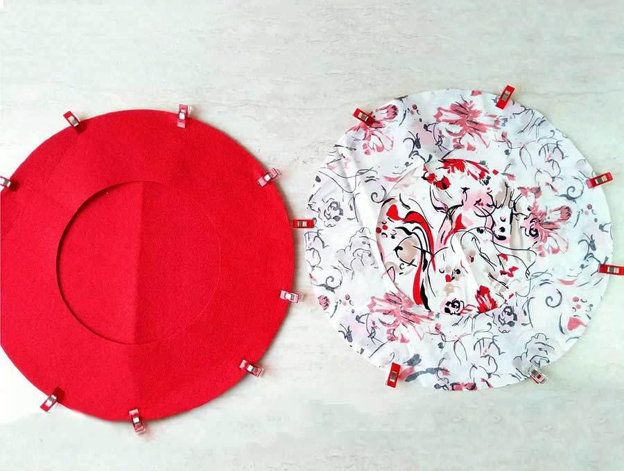 Pinned berret fabrics