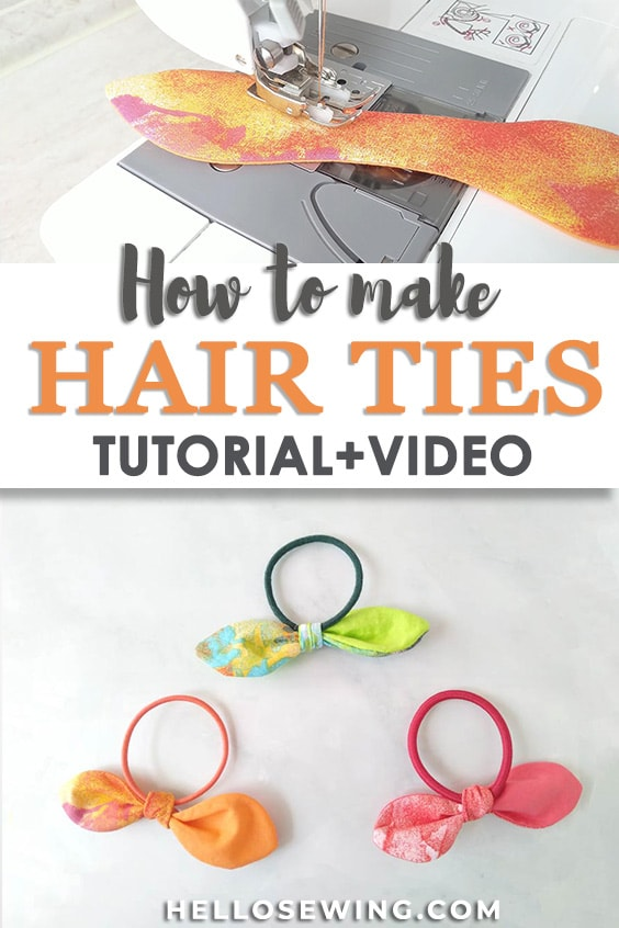 How to make hair ties tutorial and video