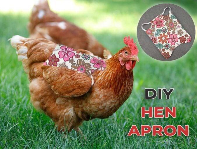 diy hen saddle apron