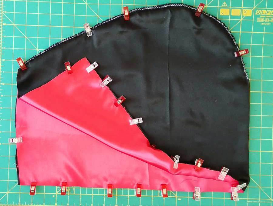 how to sew a cloak - making the lined hood