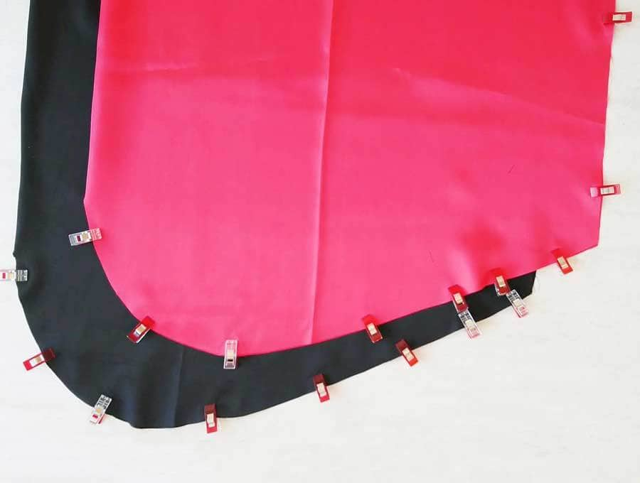 outer and lining fabric for diy cape with hood