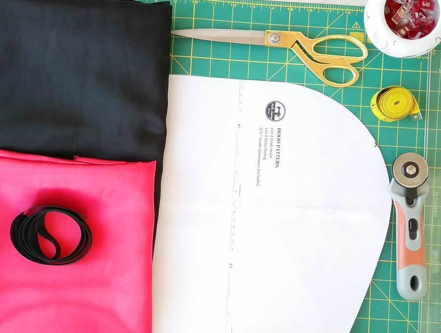 hooded cape pattern and all cloak making supplies