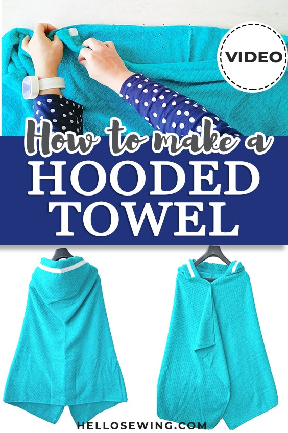 How to make a hooded towel - pinterest pin