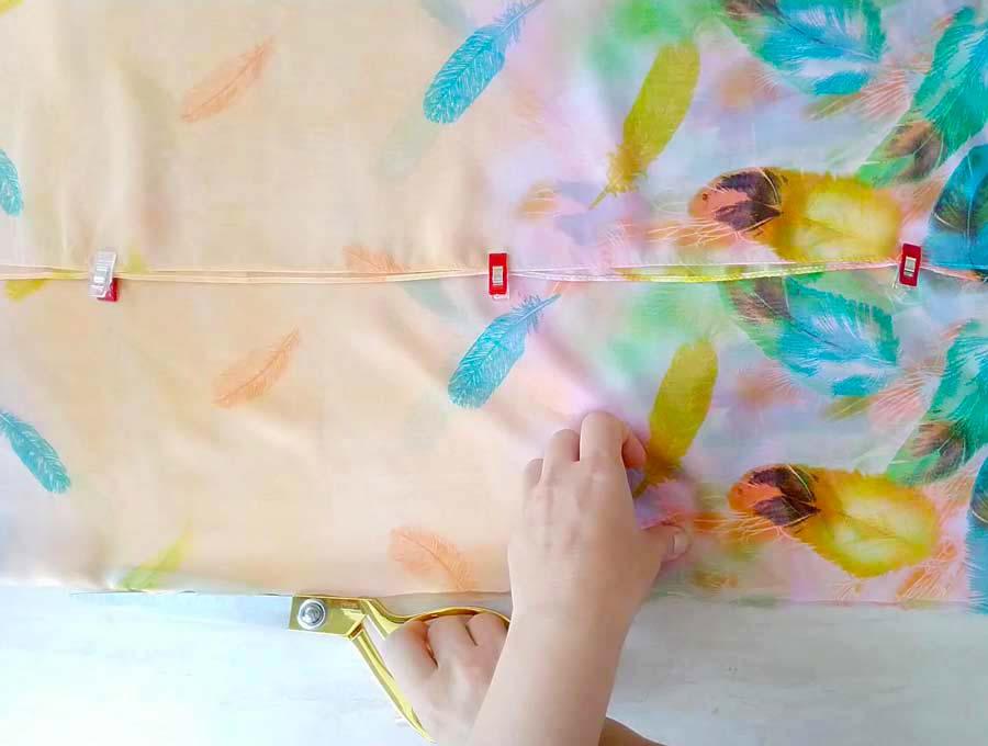 DIY kimono cutting the front opening