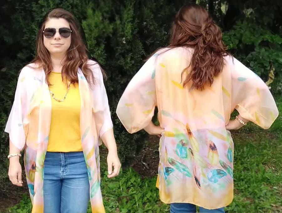 diy kimono front and back