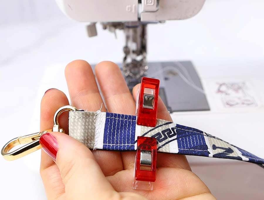 diy lanyard finish sewing