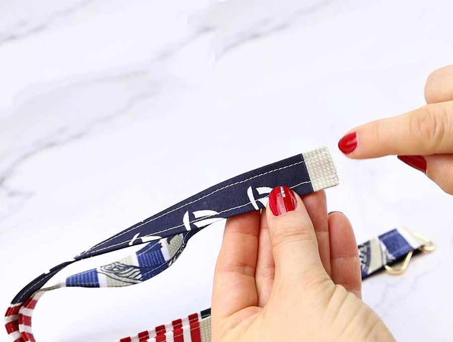 diy lanyard sewing the short edges