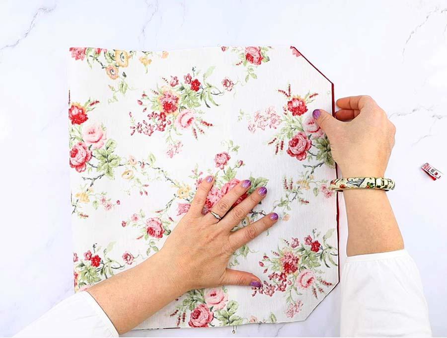 folded diy laptop sleeve