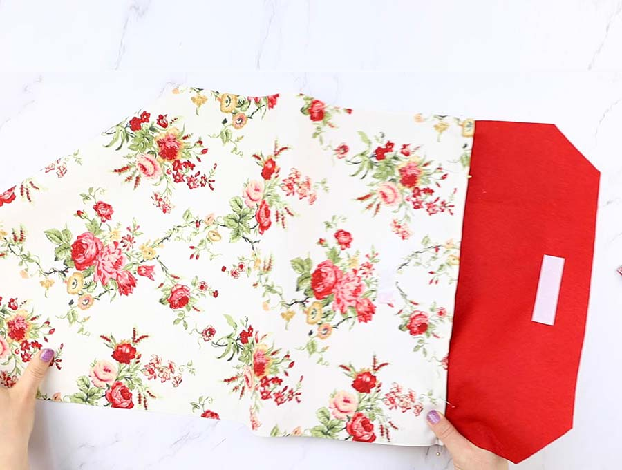 how to fold the diy laptop sleeve