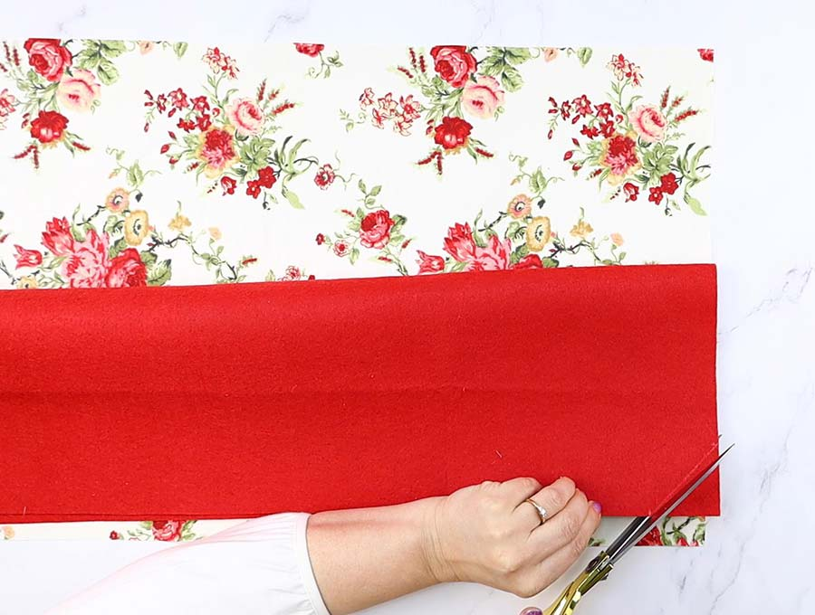 making the flap of the diy laptop bag