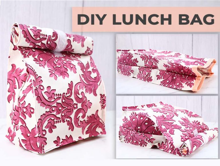 DIY Lunch Bag – Free Sewing Pattern and VIDEO Tutorial