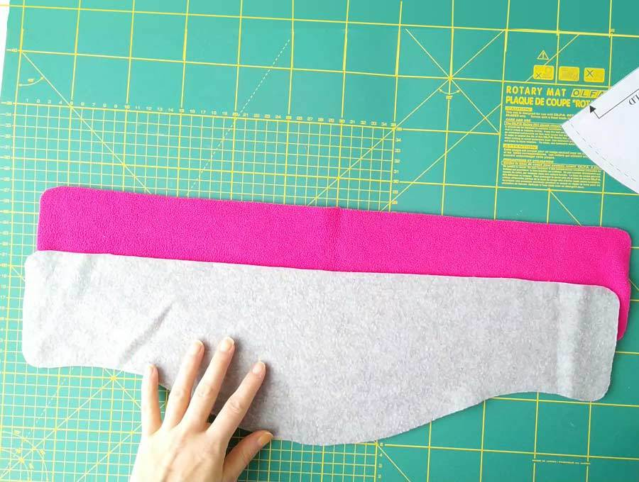 Cutting fabrics for neck warmers