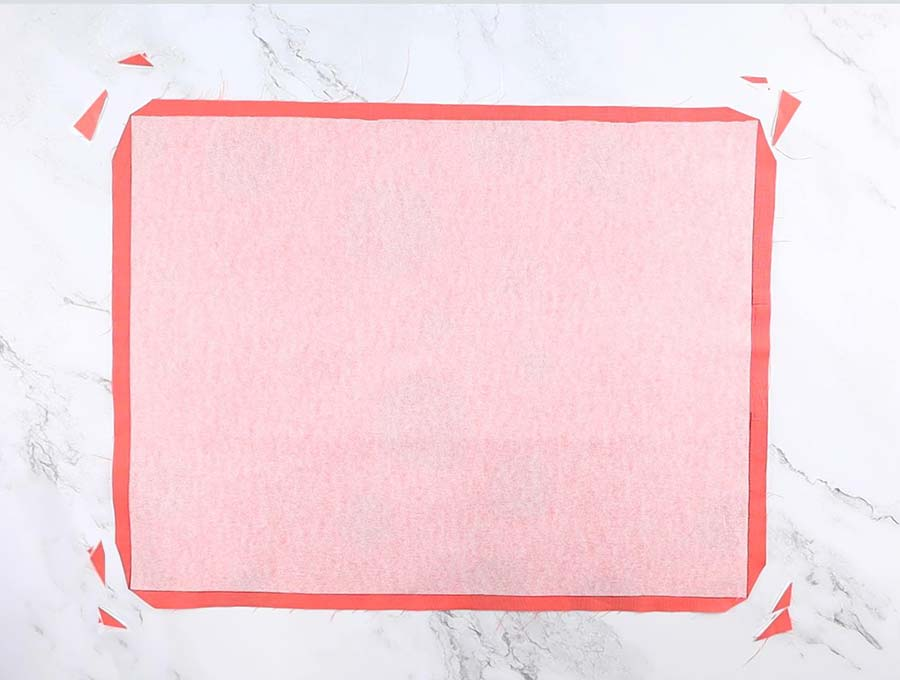 diy placemat with clipped corners