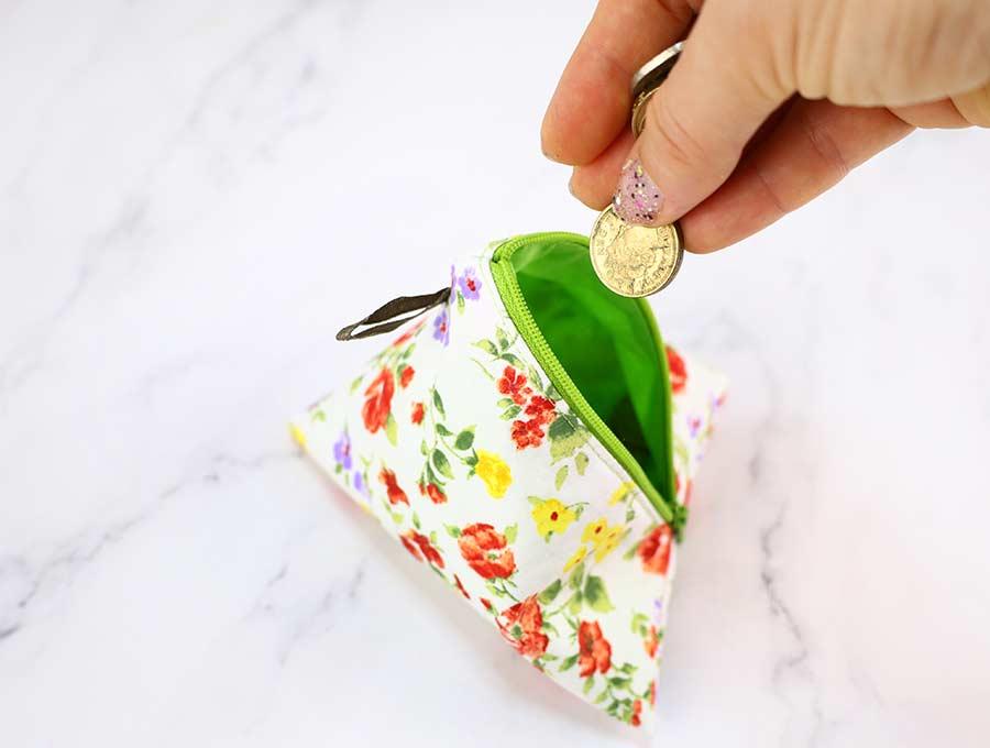 diy pyramid zippered coin purse
