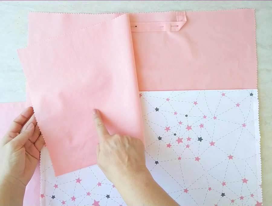 DIY reading pillow tutorial - making the envelope back