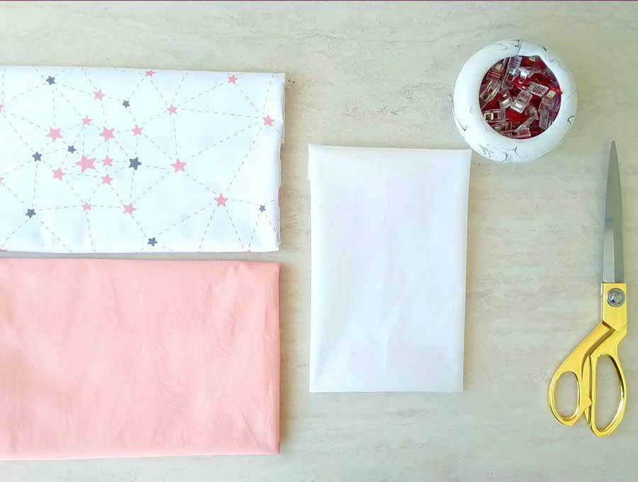 all supplies needed to make a book pillow for reading