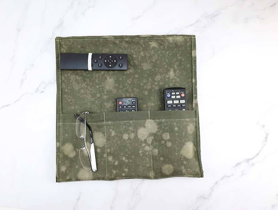 diy remote holder folded