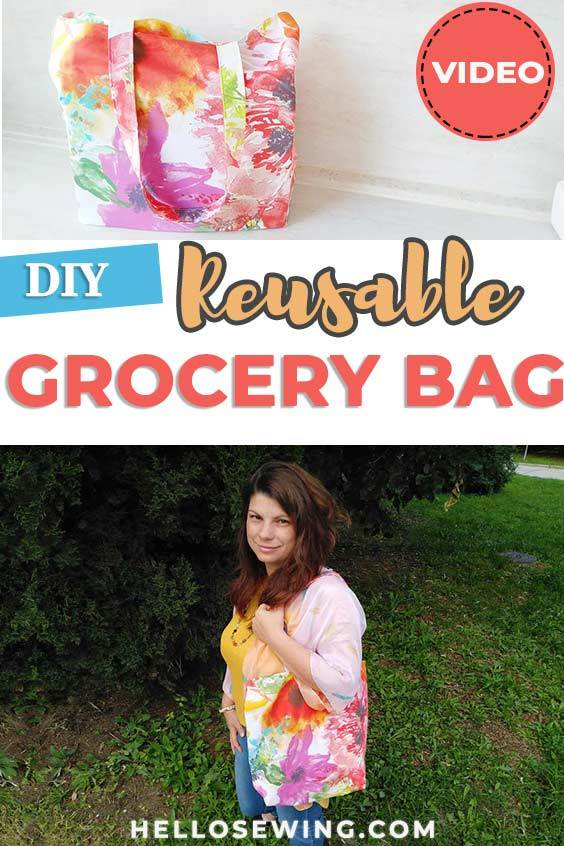 DIY reusable grocery bag (pattern and video)