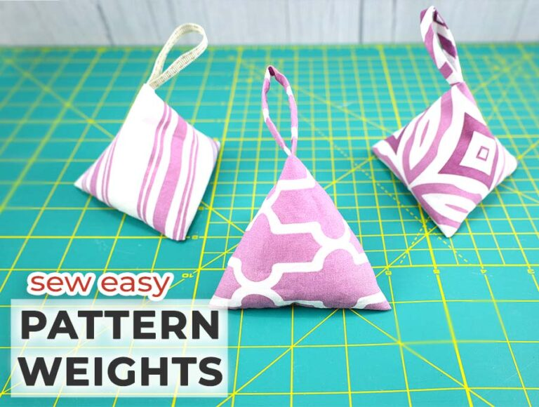 DIY Sewing Pattern Weights / Easy Triangular Fabric Weights (VIDEO)