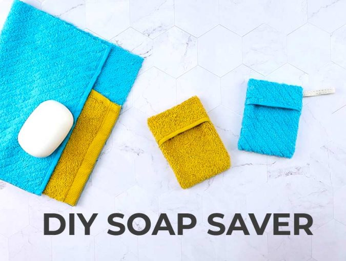 DIY soap saver pouch out of washcloth