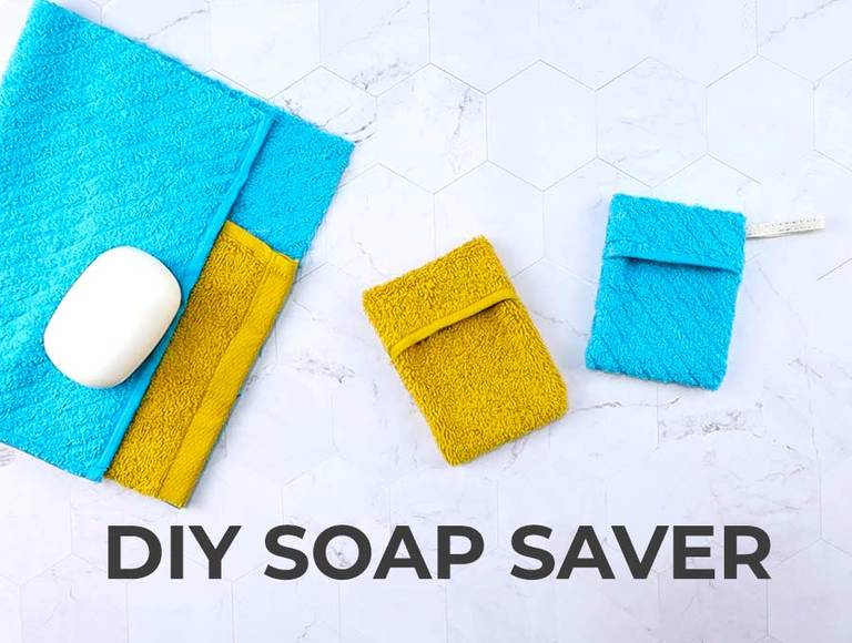 DIY Soap Saver Pouch out of Washcloth (VIDEO)