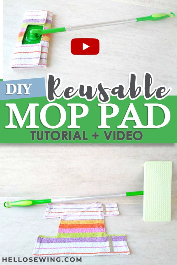 DIY Reusable mop pad (tutorial+ VIDEO)