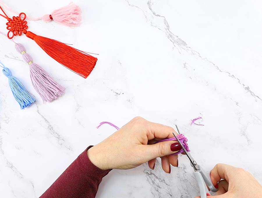diy tassels from embroidery thread trimming ends