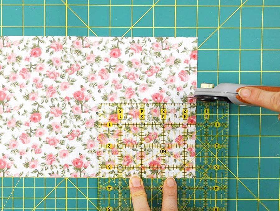 cutting fabric for diy tea bag