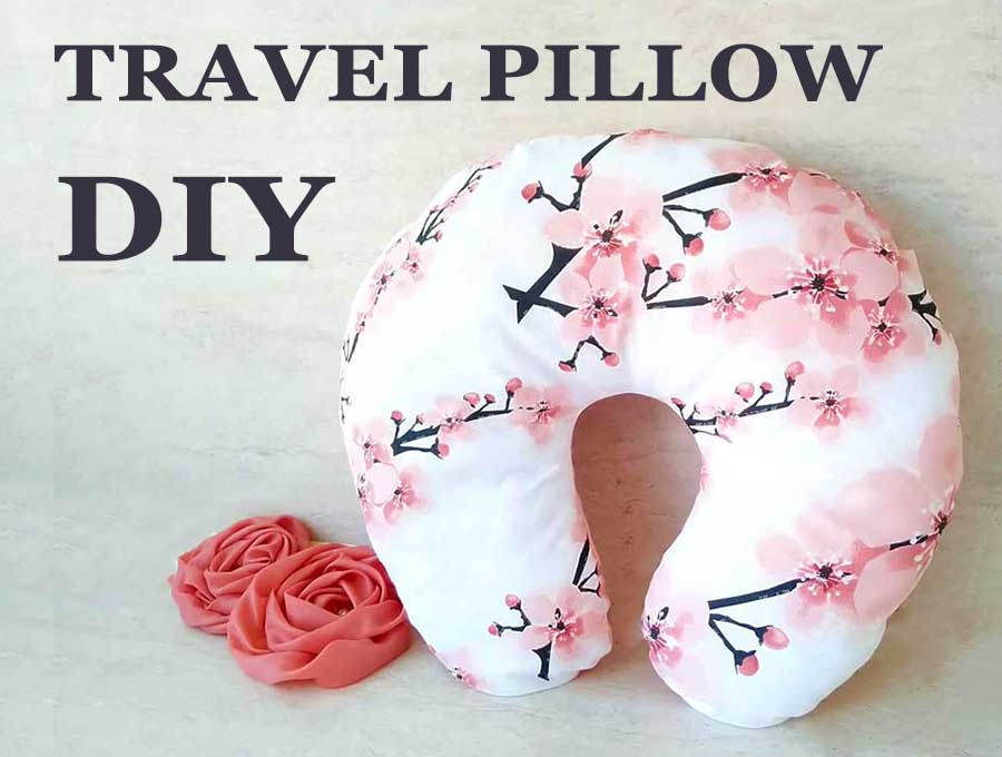 DIY Travel pillow - how to make neck pillow