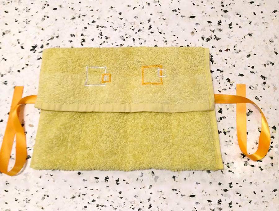 diy washcloth travel kit