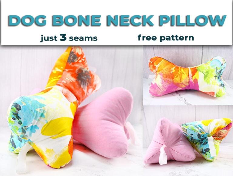 DIY Dog Bone Pillow Pattern | Headrest Pillow Tutorial (VIDEO)
