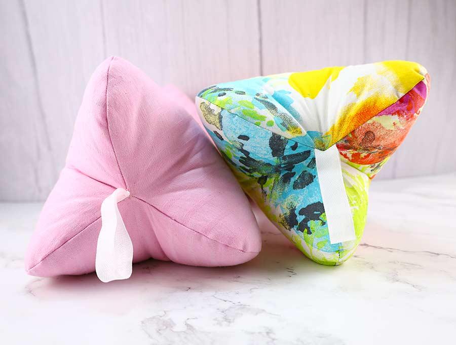 dog bone pillows side view
