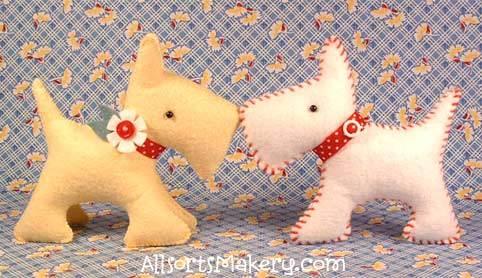 free stuffed dog sewing pattern