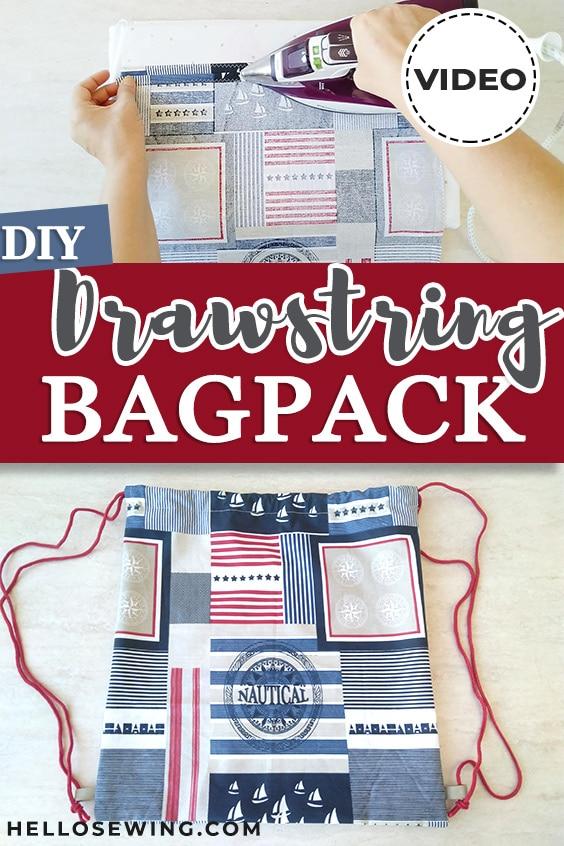 Drawstring backpack pin