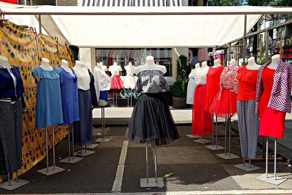 dressmaker working on a dress