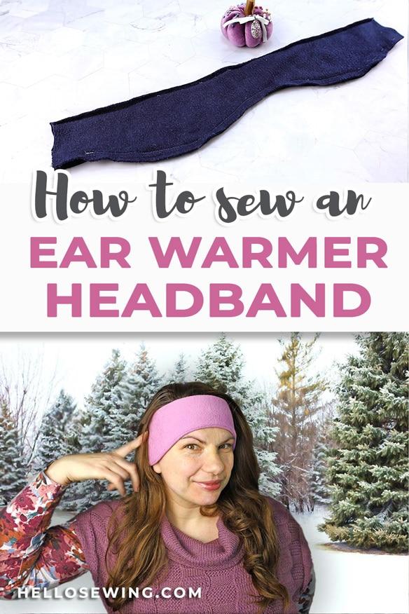 how to sew an ear warmer headband out of fleece