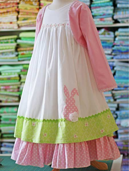 easter dress with cute bunny detail