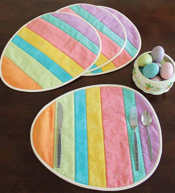 easter eggs placemats