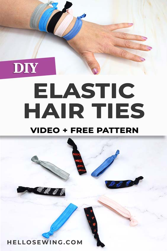 DIY elastic hair ties - no sew tutorial