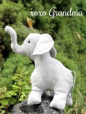 free stuffed elephant pattern