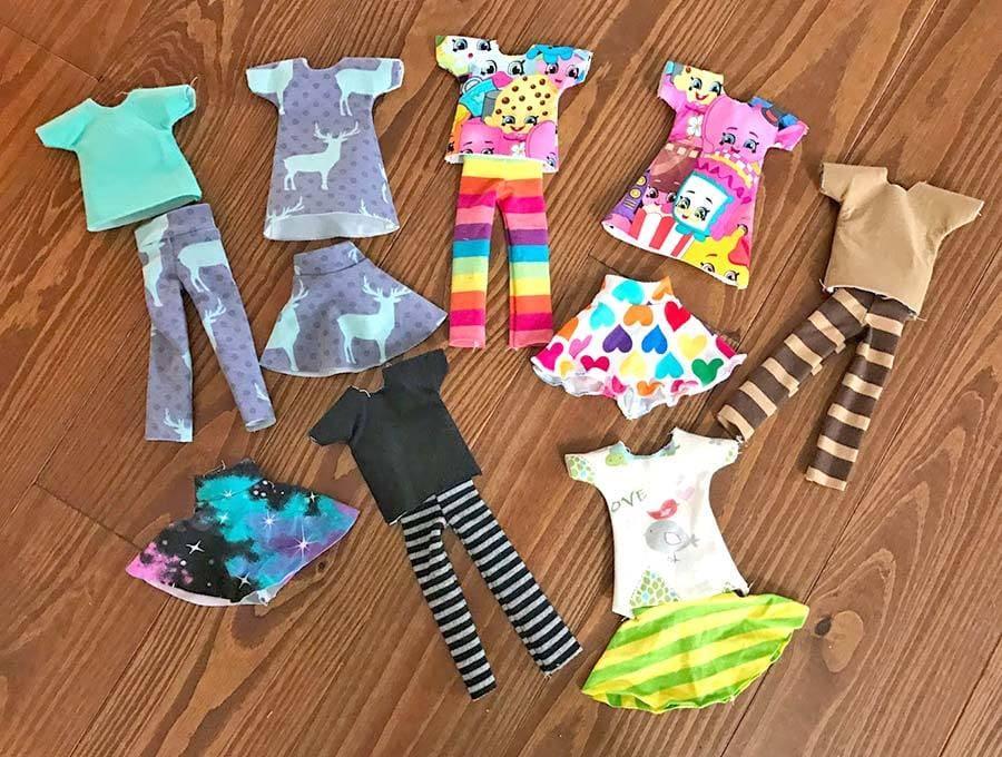 elf on the shelf t-shirt, pants, skirt - full set of clothes
